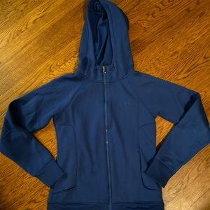 Ladies small royal blue under armour zip up
